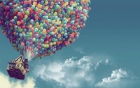 clouds,Pixar clouds pixar houses up movie balloons skyscapes 1920x1200 wallpaper – Houses Wallpaper – Free Desktop Wallpaper