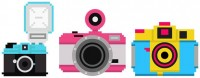 FREE Super-cute Camera Pixel Art - Lomography