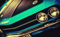 vintage cars muscle cars USA vehicles Challenger blue cars vintage cars american cars - Wallpaper (#1841627) / Wallbase.cc