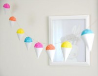 DIY Faux Snow Cone Party Garland & GiftEmbellishment - Home - Creature Comforts - daily inspiration, style, diy projects freebies