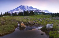 Dawn on Mt. Rainier Art Prints by Jim Dockery - Shop Canvas and Framed Wall Art Prints at Imagekind.com