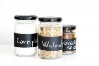made.by.me*: DIY project: Chalkboard painted jars - get your kitchen organized!