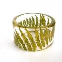 Fern Botanical Resin Bangle Chunky by SpottedDogAsheville on Etsy
