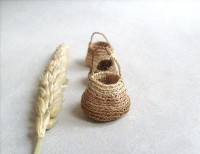 Miniature elf's baskets set of three kitchen decor by plad
