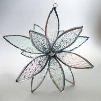 3D Stained Glass Suncatcher In Full Bloom Iridescence by LAGlass