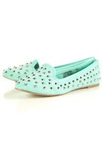 VECTRA4 Canvas Studded Slippers - Slippers - Flats - Shoes - Topshop