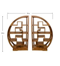 Buy Cube Curved Display Bookcase   Racks & Cabinets   Pepperfry.com