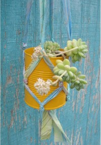 Make A Plant Hanger From Fabric Scraps Gleeful Things | Apartment Therapy