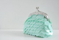 Pastel Lake clutch by overdo on Etsy