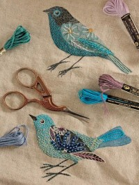 embroidery / Beaded Birds | Flickr - Photo Sharing!
