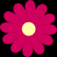 Flower Pink clip art - vector clip art online, royalty free & public domain