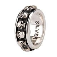 Lucky Thai Silver Skull Ring For Men