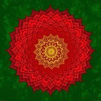 okshirahm rose mandala Art Print by Peter Patrick Barreda | Society6