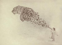 Bubbles the Snow Leopard Art Print by Darel Seow   Society6