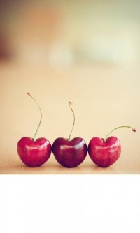 cherries food photograph / valentines day kitchen by shannonpix
