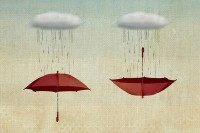 embracing the rain Art Print by Vin Pezz   Society6