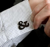 Designspiration — Veer: Products: Merchandise: Ampersand Faux Cufflinks ($20-50) — Svpply