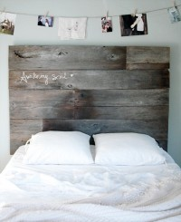 diy project: salvaged barnwood headboard | Design*Sponge