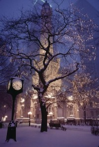 a CHRISTMAS carol / Chicago in Snow by josullivan.59, via Flickr