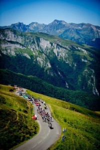 At stage16 in Tour de France 2012, a front ... | Cycling-At the races