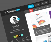 Behance website re-design on