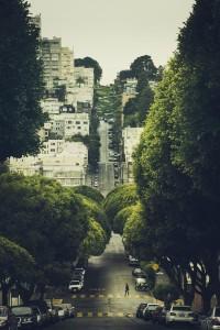 California. / Lombard Street, San Francisco.