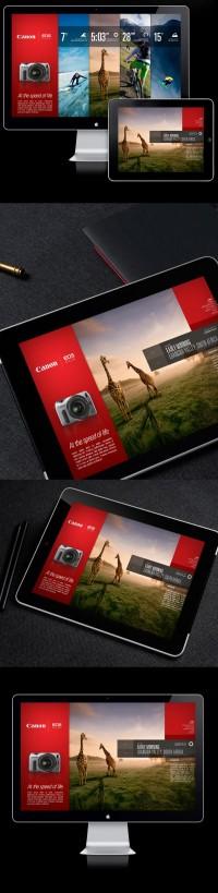 Canon EOS-M / Campagne Microsite sur le réseau