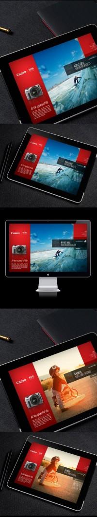 Canon EOS-M / Campaign Microsite on