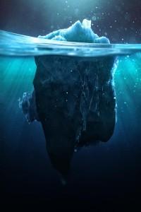 Caustic Icebergs on