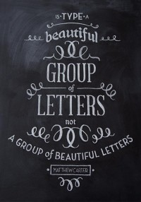Chalk Typography on