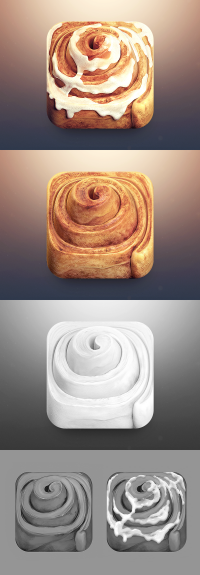 Cinnamon Roll App Icon on