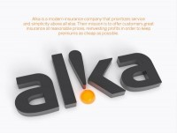 Corporate & Brand Identity - Alka Insurance, Denmark