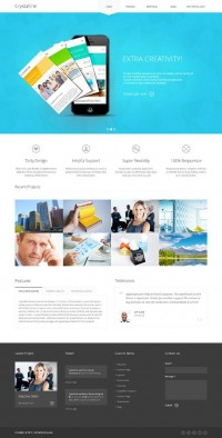Crystalline, WordPress Big Slider Ready Business Theme on