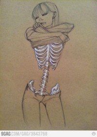 DARK ART / Skeleton Girl