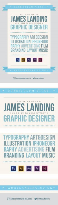 Designer CV on
