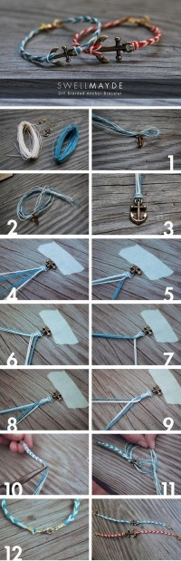 DIY anchor bracelet by Banphrionsa. | Nautical