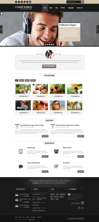 Elegant Business - MultiPurpose Responsive Web Template on