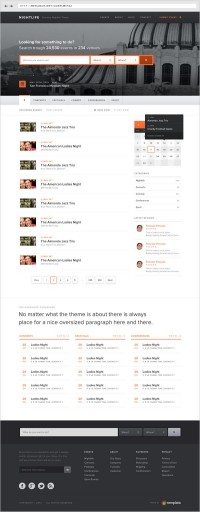 Events Wordpress Theme on