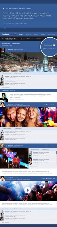 Facebook - New Look & Concept on