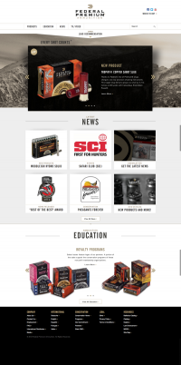 Federal Premium Website on