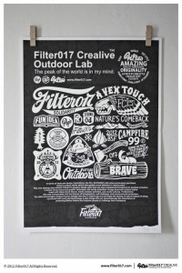 Filter017?FCL OUTDOOR LAB?Screen Printing Poster on