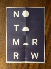 FROM THE HILL | No Tomorrow — Designspiration