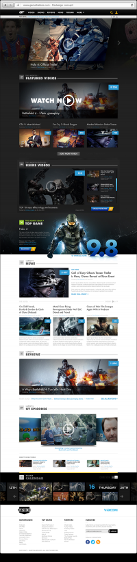 Gametrailers redesign concept on