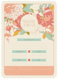 Garden Party Invitation Kit on