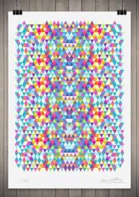 Geometric / Image of Tri Colour Series Number 5 111cm x 76cm — Designspiration
