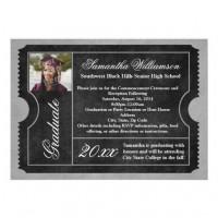Graduation Gear ~ Class of 2013 / Photo Black Graduation Ticket Invitations
