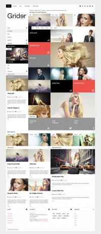 Grider, WordPress Responsive Photographer Magazine Them on