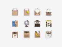 Handmade Desktop Icons on