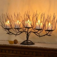 Home Accessories / Twig and Beads Candelabra Candle Holder