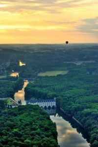 i haven't been everywhere, but it's on my list. / Aerial view of Château de Chenonceau, France